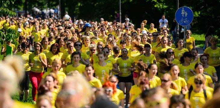 V Tivoliju na dm teku 8.000 tekačic obarvanih v rumeno