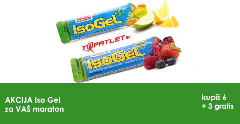 Z energijskim gelom IsoGel na vaš maratonski podvig