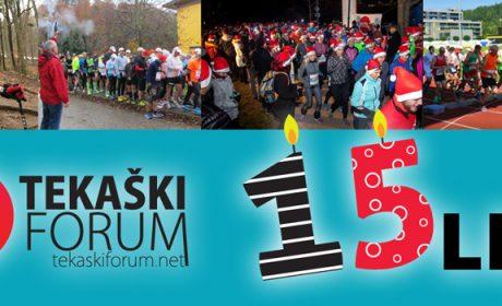 Tekaški forum praznuje 15 let